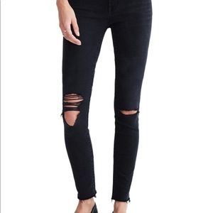 "Madewell High rise 9"" black ankle jeans"